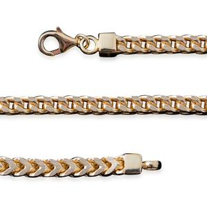 14K YG Over Sterling Silver Chain (30 in)