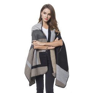 Coffee, Gray and Black Abstract Pattern Cozy Shawl Wrap