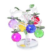 Multi Color Glass Dangling Fruits Tree Crystal Figurine (2.36x1.57 in)