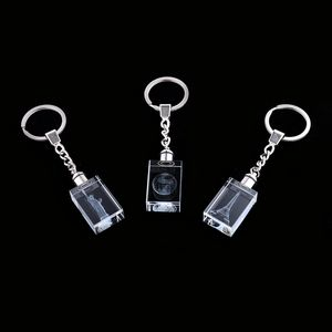 Set of 3 Crystal Keychains with LED Light
