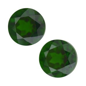 Russian Diopside Set of 2 (Rnd 6 mm) TGW 1.53 cts.