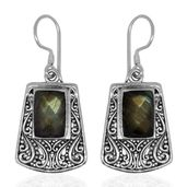 Bali Legacy Collection Malagasy Labradorite Sterling Silver Earrings TGW 10.79 cts.