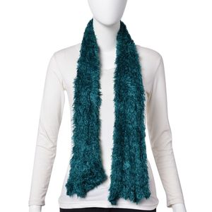 Green 100% Acrylic Faux Fur Scarf (One Size)