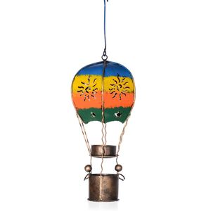 Bali Made Handcrafted Hot Air Balloon Tea Light Holder (13x5 in)