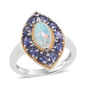Ethiopian Welo Opal, Catalina Iolite 14K YG and Platinum Over Sterling Silver Ring (Size 6.0) TGW 2.98 cts.
