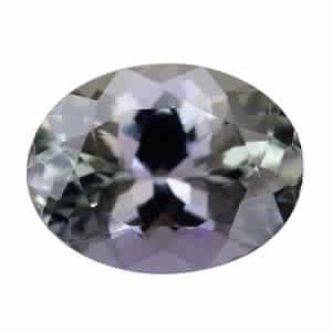 MEGA CLEARANCE Peacock Tanzanite (2A) (Ovl 8.5x6.5 mm) TGW 1.46 cts.