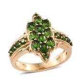 Russian Diopside 14K YG Over Sterling Silver Ring (Size 10.0) TGW 2.19 cts.