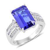ILIANA 18K WG Premium AAA Tanzanite, Diamond Ring (Size 7.0) TDiaWt 0.50 cts, TGW 6.00 cts.