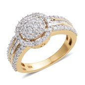 14K WYG White Diamond Ring (Size 7.0) TDiaWt 1.00 cts, TGW 1.00 cts.