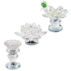 TLV Set of 3 White Crystal Rotating Paper Weight or Desk Decor (4.5x2, 3x2, 4x2 in) with Perfect Fit Gift Box