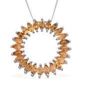 Kevin's Presidential Deal Brazilian Citrine Platinum Over Sterling Silver Pendant With Chain (20 in) TGW 3.82 cts.