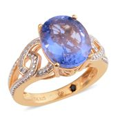GP Color Change Fluorite Platinum and 14K YG Over Sterling Silver Ring (Size 10.0) TGW 5.87 cts.