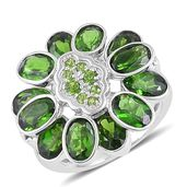 Russian Diopside Sterling Silver Ring (Size 6.0) TGW 6.72 cts.