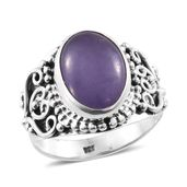 Artisan Crafted Burmese Purple Jade Sterling Silver Ring (Size 10.0) TGW 6.00 cts.