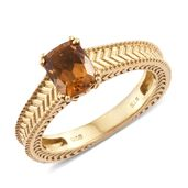 Karen's Fabulous Finds Santa Ana Madeira Citrine 14K YG Over Sterling Silver Ring (Size 9.0) TGW 1.40 cts.