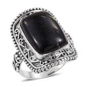 Artisan Crafted Greenland Nuummite Sterling Silver Ring (Size 7.0) TGW 16.14 cts.
