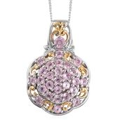 Mahenge Pink Spinel 14K YG and Platinum Over Sterling Silver Pendant With Chain (20 in) TGW 1.75 cts.