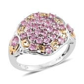 Mahenge Pink Spinel 14K YG and Platinum Over Sterling Silver Ring (Size 8.0) TGW 1.85 cts.