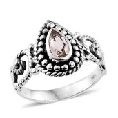 Artisan Crafted Marropino Morganite Sterling Silver Ring (Size 7.0) TGW 0.58 cts.