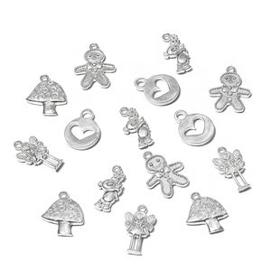 Gem Workshop Silvertone Charms Set