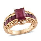 Dan's Jewelry Selections Niassa Ruby 14K YG Over Sterling Silver Ring (Size 9.0) TGW 6.35 cts.