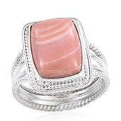 Artisan Crafted Peruvian Pink Opal Sterling Silver Ring (Size 11.0) TGW 6.70 cts.