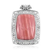 Artisan Crafted Peruvian Pink Opal Sterling Silver Pendant without Chain TGW 27.90 cts.
