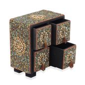 Gold 4 Drawer Bling Chest Jewelry Box (5x3x5.5 in)