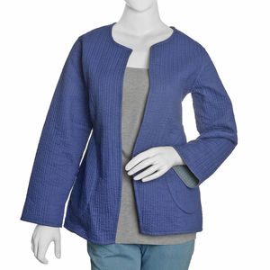 Blue and Gray 100% Cotton Reversible Quilted Jacket (M/L)