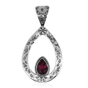 Bali Legacy Collection Rubellite Quartz Sterling Silver Pendant without Chain TGW 2.33 cts.