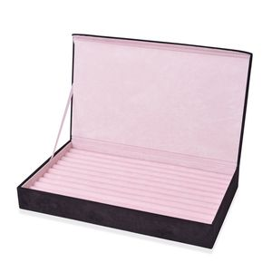 Black Velvet 3D Horse Picture Ring Box (15x2x9 in) (Approx 120 Rings)
