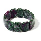 Lab Created Ruby Zoisite Bracelet (Stretchable) (7.50 In) TGW 361.50 cts.