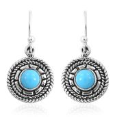 Arizona Sleeping Beauty Turquoise Sterling Silver Earrings TGW 1.60 cts.