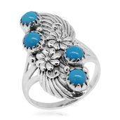 Bali Legacy Collection Arizona Sleeping Beauty Turquoise Sterling Silver Ring (Size 6.0) TGW 2.13 cts.