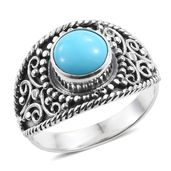 Artisan Crafted Arizona Sleeping Beauty Turquoise Sterling Silver Ring (Size 9.0) TGW 2.15 cts.