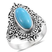 Artisan Crafted Arizona Sleeping Beauty Turquoise Sterling Silver Ring (Size 10.0) TGW 2.86 cts.