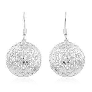 Sterling Silver Circle Earrings (3.7 g)
