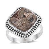 Artisan Crafted Utah Rhyolite Jasper Sterling Silver Ring (Size 11.0) TGW 8.35 cts.