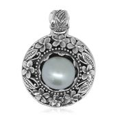 Bali Legacy Collection White South Sea Pearl (10-11 mm) Sterling Silver Pendant without Chain