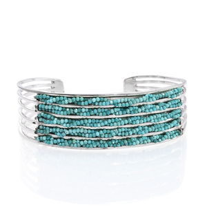 Artisan Crafted Nevada Turquoise Sterling Silver Cuff (7.50 in) TGW 23.00 cts.