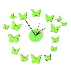 DIY Glow-in-the-Dark Flight of Butterflies Clock