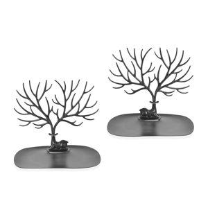 Set of 2 Black My Little Deer Tray- Accessories Tree (10x5.5x8 in)