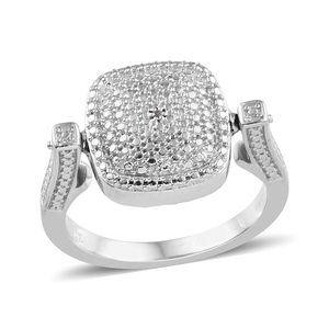 KARIS Collection - Yellow Diamond (IR), Diamond ION Plated 18K YG and Platinum Bond Brass Accent Reversible Ring (Size 8.0)