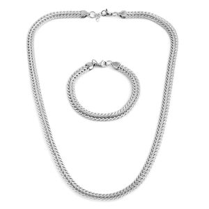 One Time Only Stainless Steel Bracelet (8 in) and Bismark Chain (24.00 In)