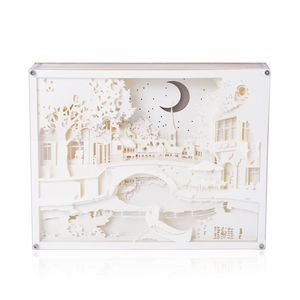 Decorative 3D Paper Cut Light Box with USB Cable (3AAA Batteries Not Included) (10x8 in)