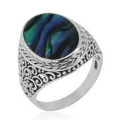 Bali Legacy Collection Abalone Shell Sterling Silver Ring (Size 11.0) 7