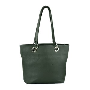 One Time Only Clearance Deal Dark Olive Genuine Leather RFID Tote Bag (15.7x4.25x11.7 in)