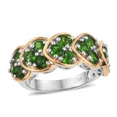 Russian Diopside 14K YG and Platinum Over Sterling Silver Ring (Size 7.0) TGW 2.85 cts.