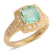 ILIANA 18K YG Boyaca Colombian Emerald, Diamond Ring (Size 7.0) TDiaWt 0.32 cts, TGW 2.38 cts.