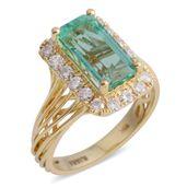 ILIANA 18K YG Boyaca Colombian Emerald, Diamond Ring (Size 7.0) TDiaWt 0.54 cts, TGW 3.04 cts.